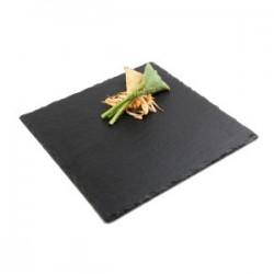 Блюдо сланцевое квадратное  L=30, B=30см; черный
