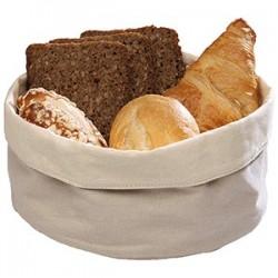 Корзина для хлеба парусина; хлопок; D=20, H=9см; белый