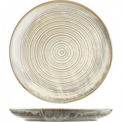 Тарелка с бортом «Агава»; фарфор; D=280, H=35мм; матовый, зелен.
