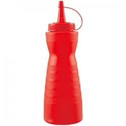 Емкость для соусов; пластик; 0, 69л; D=7, H=26см; красный