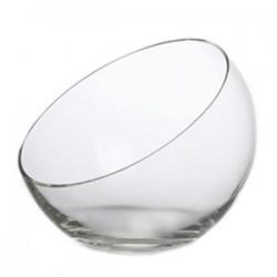 Ваза-шар косой срез; стекло; 0, 6л; D=18, H=15см;