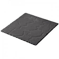 Блюдо квадратное «Базальт»; керамика; L=20, B=20см; черный, матовый