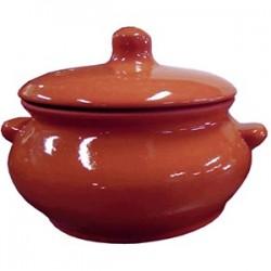 Горшок для запекания «Лакомка»; керамика; 0, 5л; D=11, H=11см; тем.корич.