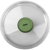 Крышка для сковороды «Д. Грин»; стекло; D=20см; , зелен.
