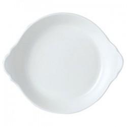 Блюдо д/запекания «Симплисити Вайт»; фарфор; 0, 5л; D=190, H=35, L=217, B=183мм; белый