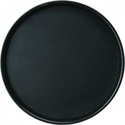 Поднос круглый; полипроп., прорезин.; D=406, H=25мм; черный