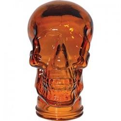 Декор для стола «Череп»; стекло; H=30см; оранжев.