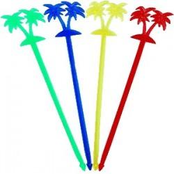 Мешалка «Пальма»[50шт]; пластик; L=20, 5см; разноцветн.