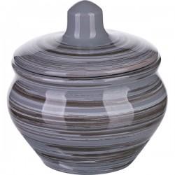 Горшок для запекания «Пинки»; керамика; 200мл; D=95мм; серый