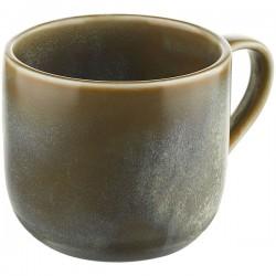 Чашка для капучино «Агава»; фарфор; 350мл; D=80, H=95мм; матовый, зелен.