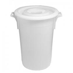 Контейнер для хран. продуктов; полиэтилен; 90л; D=51, H=70см; белый
