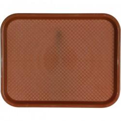 Поднос для Фаст Фуд; пластик; H=20, L=457, B=356мм; коричнев.
