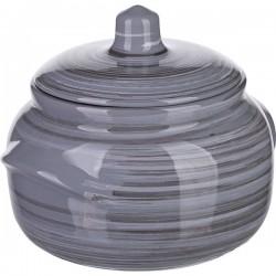 Горшок для запекания «Пинки»; керамика; 0, 6л; D=14см; серый