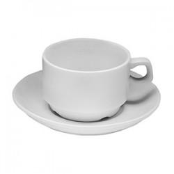 Пара чайная «Коллаж»; фарфор; 150мл; D=77/130мм; белый