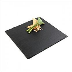 Блюдо сланцевое квадратное  L=24, 7, B=24, 7см; черный