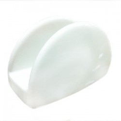 Салфетница «Симплисити Вайт»; фарфор; H=77, L=120, B=45мм; белый