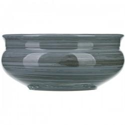 Тарелка глуб. «Пинки»; керамика; 0, 8л; D=16см; серый