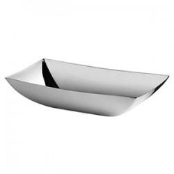 Корзина д/хлеба «Линеа кью»; сталь нерж.; L=24, B=12см; металлич.