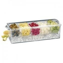 Контейнер для фруктов 5отд. с емкост. для льда; пластик; H=11, 5, L=42, B=15, 5см;