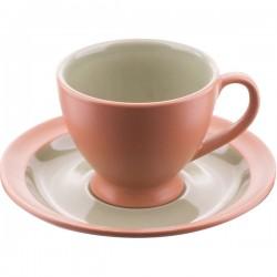 Пара кофейная «Аризона-верде»; керамика; 118мл; D=75/130, H=80мм; зелен., коричнев.