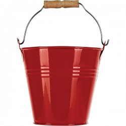 Красное мини-ведерко Prohotel размер D=11см H=10см