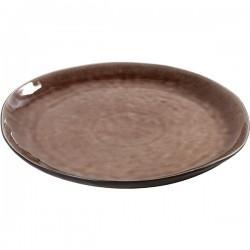 Блюдо «Пьюр»; керамика; D=34см; коричнев.