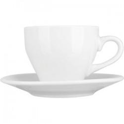 Пара чайная «Коллаж»; фарфор; 135мл; D=77/130мм; белый