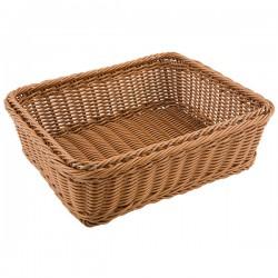 Корзина для хлеба; полиротанг; H=10, L=32, 5, B=26, 5см; коричнев.