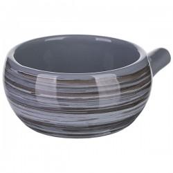Кокотница №1 «Пинки»; керамика; 180мл; D=13см; серый