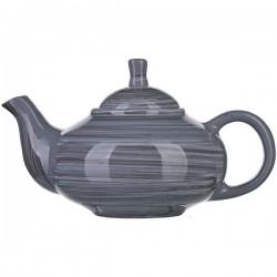 Чайник «Пинки»; керамика; 0, 7л; L=22см; серый