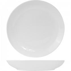 Блюдо глубокое «Кунстверк»; фарфор; D=46, H=8см; белый