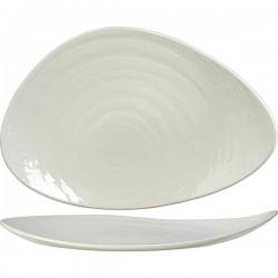 Блюдо «Скейп»; фарфор; H=45, L=375, B=250мм; белый