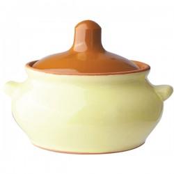 Горшок для запекания «Грибок»; керамика; 0, 5л; D=130, H=95мм; желт., коричнев.