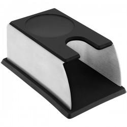 Подставка для темпера; сталь нерж., силикон; H=6, L=14, B=9см; черный,
