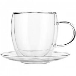 Пара чайная «Проотель»; термост.стекло; 250мл; D=13см