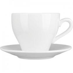 Пара чайная «Кунстверк»; фарфор; 200мл; D=85/137мм; белый