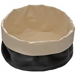 Корзина для хлеба; хлопок; D=17, H=8см; черный