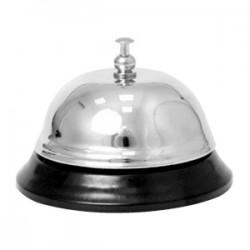 Звонок; металл хромир.; D=84, H=60мм; серебрист.