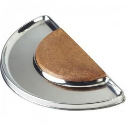 Доска барная; сталь, пластик; H=1, L=34, B=17см; , коричнев.