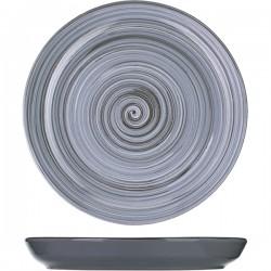 Тарелка мелкая «Пинки»; керамика; D=260, H=25мм; серый