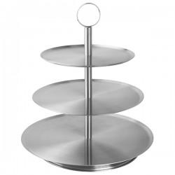 Этажерка 3-х ярусная д/десерта «Проотель» d=21/26/31см; сталь нерж.; H=36см; металлич.