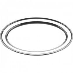 Блюдо овальное; сталь; H=18, L=465, B=340мм;