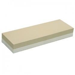 Камень точильный, абразивность 600/1000; H=30, L=215, B=70мм; белый, серый