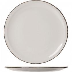 Блюдо д/пиццы «Браун дэппл»; фарфор; D=31см; белый, коричнев.