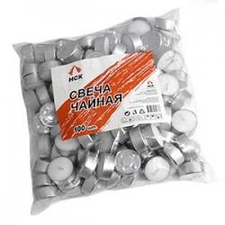 Свечи «Таблетки»[100шт]; воск, алюмин.; D=4, H=4, L=30, B=30см; белый