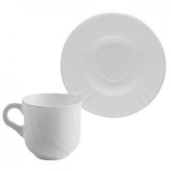 Набор кофейных пар «Эбро»[6шт]; стекло; 160мл; H=75, L=400, B=135мм; белый