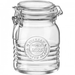 Банка д/сыпуч. продуктов «Оффисина 1825»; стекло; 1, 158л; D=11, 1, H=16, 4см; прозр.
