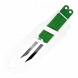 Набор кондит. ножей[2шт]; нержавеющая сталь, L=145/60, B=60мм; зелен.,