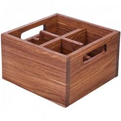 Ящик для кондиментов; дуб; H=10, L=17, B=17см