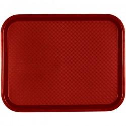 Поднос для Фаст Фуд; пластик; H=2, L=41, B=30см; красный